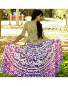 Coral Pink Indian Mandala Skirt