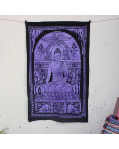 Purple Life of Buddha Hippie Wall Poster 30 in x 40 in