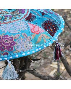 Turquoise Round Cushion Cover