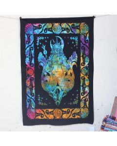Turquoise goddess Mermaid Boho Wall Hanging Poster 30 in x 40 in