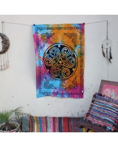 Pink Tri Skele Celtic Cotton Wall Hanging Poster 30 in x 40 in