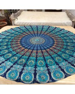 WaterFall Large Round Blanket - Classic