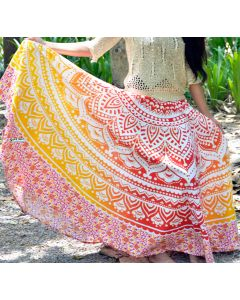 Opal Orange Indian Mandala Skirt