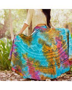Rainbow Multicolor Indian Mandala Skirt