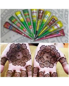 Natural Herbal Henna Cone - Pack of 10