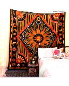 Burning Sun Large Tapestry