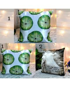 Printed Satin Cushion Cover With Zip