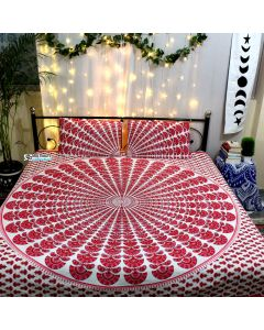 Shubh Queen Duvet Cover With Pillow Set