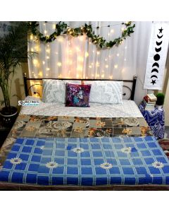 Night in Ocean Vintage Sari Quilt