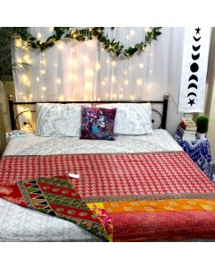 Love of flowers Indian Kantha Quilt