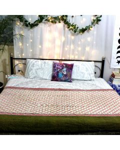 Dots and lines Indian Sari Quilt