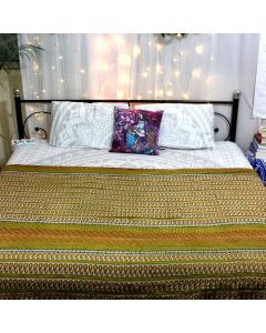 Paisley and Chevron Indian Recycled Fabric Quilt