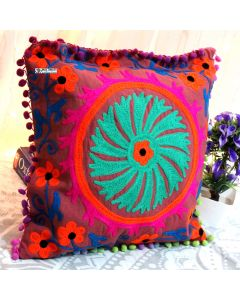 Multicolor Suzani Decorative Pillow