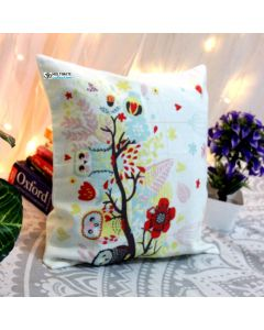 Owl and cage Decorative Pillow With Zip