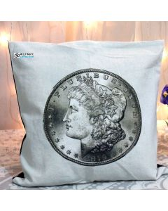 Coin Decorative Pillow With Zip