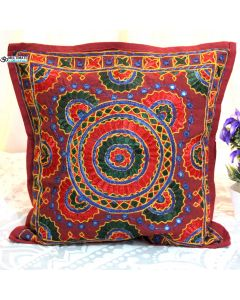 Multicolor Embroidered and mirror work pillow Model 1