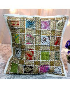White Cotton Handmade Throw Decorative Pillow Sham 16 x 16 in