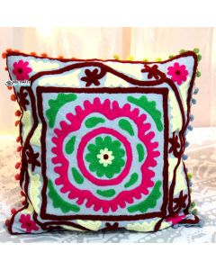 Multicolor Suzani Decorative Pillow Model 1
