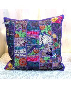 Purple Vintage Collage Cushion Cover
