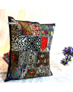 Black Vintage Collage Cushion Cover