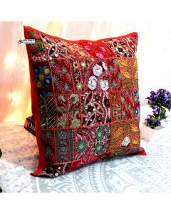 Red Vintage Collage Cushion Cover