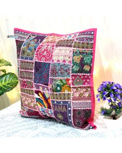 Pink Vintage Collage Cushion Cover
