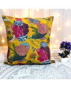Yellow Floral Decorative Pillow