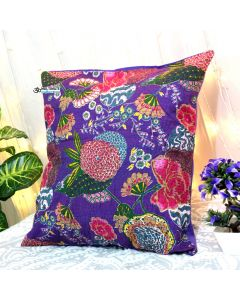 Purple Floral Decorative Pillow