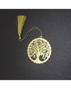 Golden Round Tree Bookmark
