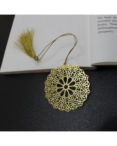 Golden Hippie Mandala Bookmark