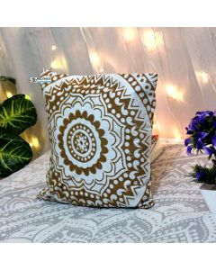 Gold Decorative Pillow with Zip 16x16