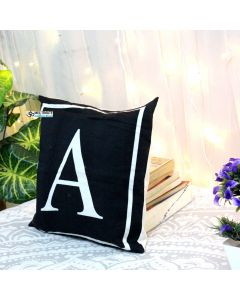 A Letter Decorative Pillow With Zip