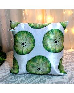Green lemon Satin Decorative Pillow With Zip
