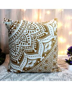 Gold Decorative Pillow With Zip
