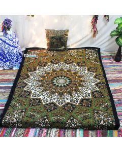 Psychedelic Mandala Twin tapestry