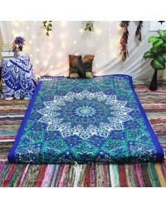Turquise Psychedelic Star Tapestry
