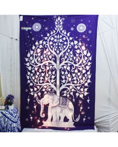 Elephant Tree Twin Wall tapestry