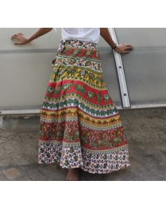 Halo Indian Mandala Wrap Round Skirt