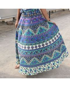 Sneha Indian Mandala Wrap Round Skirt