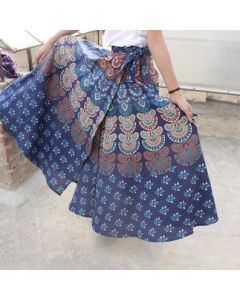 Hippie Indian Mandala Wrap Round Skirt