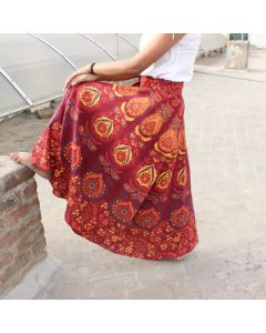 Mind Indian Mandala Wrap Round Skirt