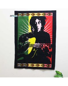 Marley With Guitar Poster