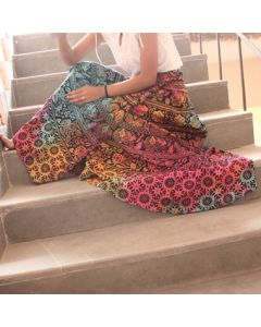 Zen Indian Mandala Wrap Round Skirt