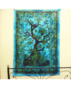 Twin Life of Tree Wall Tapestry