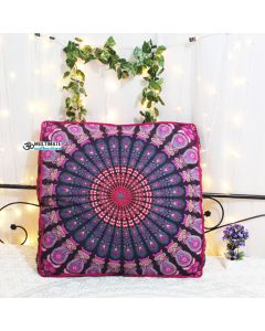 Purple Bohemian Box Cushion