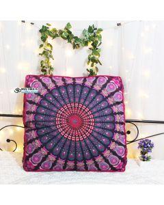 Purple Bohemian Box Cushion