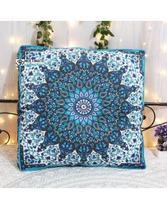 Blue Star Elephant Box Pillow