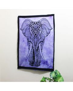 Purple Big Elephant Poster