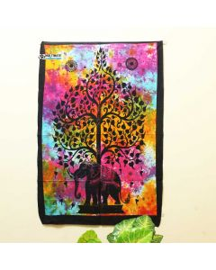 Multicolor Elephant Tree Poster