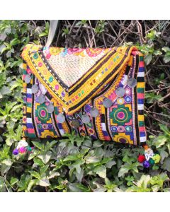 Kantha Bag Ethnic Purse Vintage Clutch